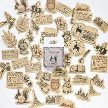 45 Pcs/box Vintage Small animals Mini Paper Sticker Decoration diy Diary Scrapbooking Label Stationery School Supply