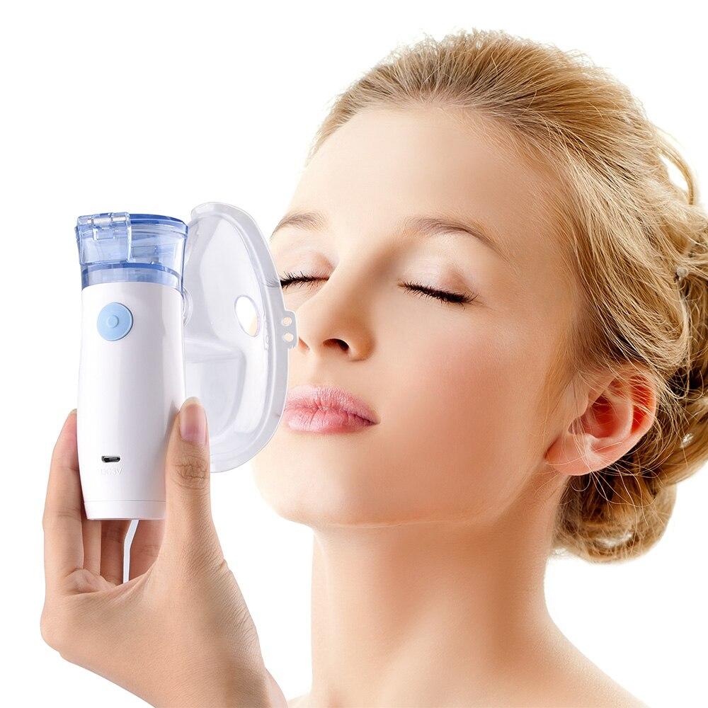 Assistenza Sanitaria Portatile Inalatore Nebulizzatore Per Il Bambino e L'adulto Mini Mesh Nebulizzatore Macchina di Famiglia Umidificatore Battery Operated
