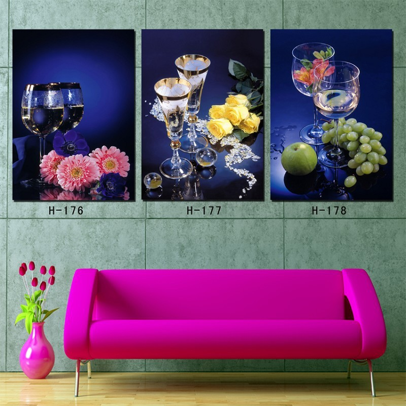 2016 sale oil painting quadros de parede para sala 3 piece for House decoration pieces