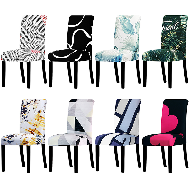 New Printed Flower Universal Size Chair Cover Stretch Seat Chair Covers For Wedding Banquet Restaurant Hotel Dining Living Room