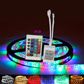 5M 2835 RGB 300 Led waterproof Flexible Strip light bright than 3528 tape lamp/24key Remote Controller/dc12v 2A Power Adapter