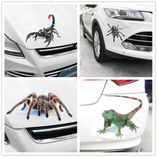 Car sticker animal bumper spider gecko scorpion car styling Abbott vinyl and motorcycle accessories 3D