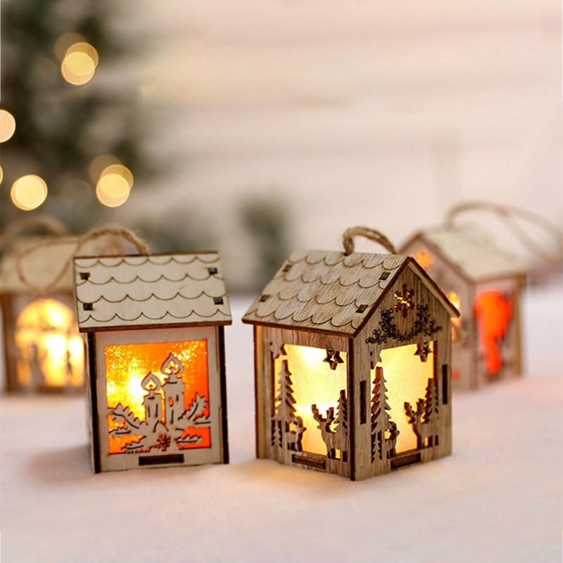 2018 Christmas Luminous Chalet Pendant Table Ornaments