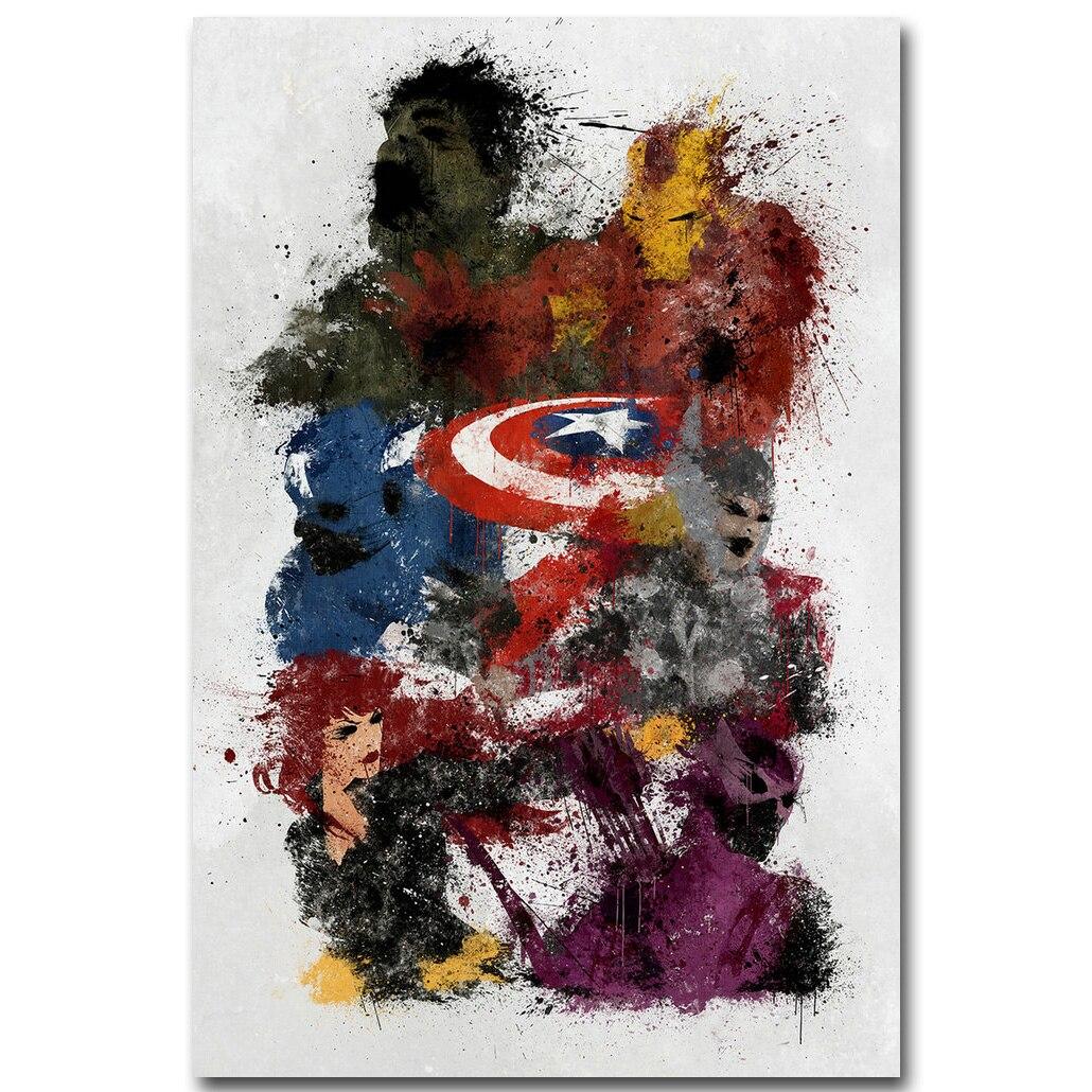 Avengers 2 Age of Ultron Art Silk Poster Minimalism Print ...