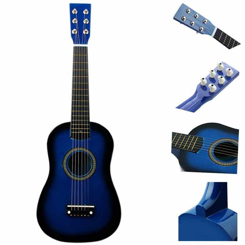 IRIN Mini 23 дюймов липа 12 ладов 6 струнная акустическая гитара с палочками и струнами для детей/начинающих