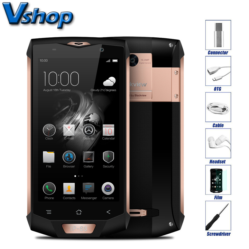 Original Blackview BV8000 Pro 4G Mobile Phones Android 7 0 6GB RAM 64GB ROM Octa Core