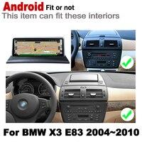 "hd מסך 10.25"" סטריאו מסך HD אנדרואיד 7.0 עד לרכב GPS Navi מפה BMW X3 E83 2004 ~ 2010 מקורי סגנון מולטימדיה נגן רדיו אוטומטי (2)"