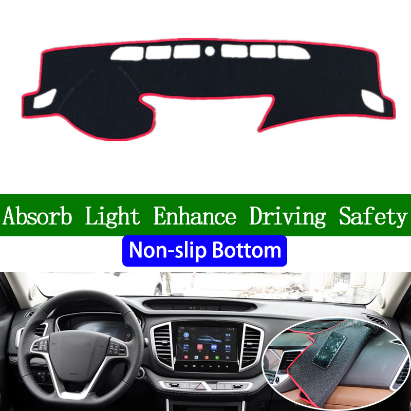For GEELY VISION SUV 2016 2017 2018 Non-slip Bottom Dashboard Cover Car Decals Car Stickers Interior Car Accessories image