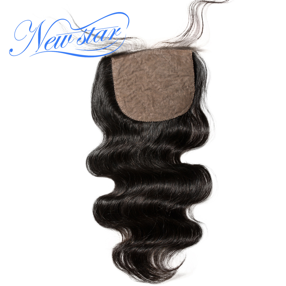 Closures Star-Hair Silk-Based Hairline Body-Wave Free-Or-Middle-Part Pre-Plucked Brazilian