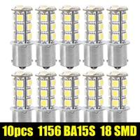 10Pcs 1156 BA15S 1141 1073 1095 Base 18 SMD 5050 LED Replacement Bulb 12V