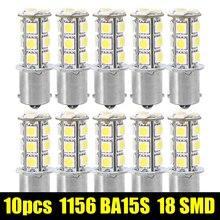 10 шт. 1156 BA15S/1141/1073/1095 База 18 SMD 5050 Замена авто световой сигнал лампа 12 В супер белый