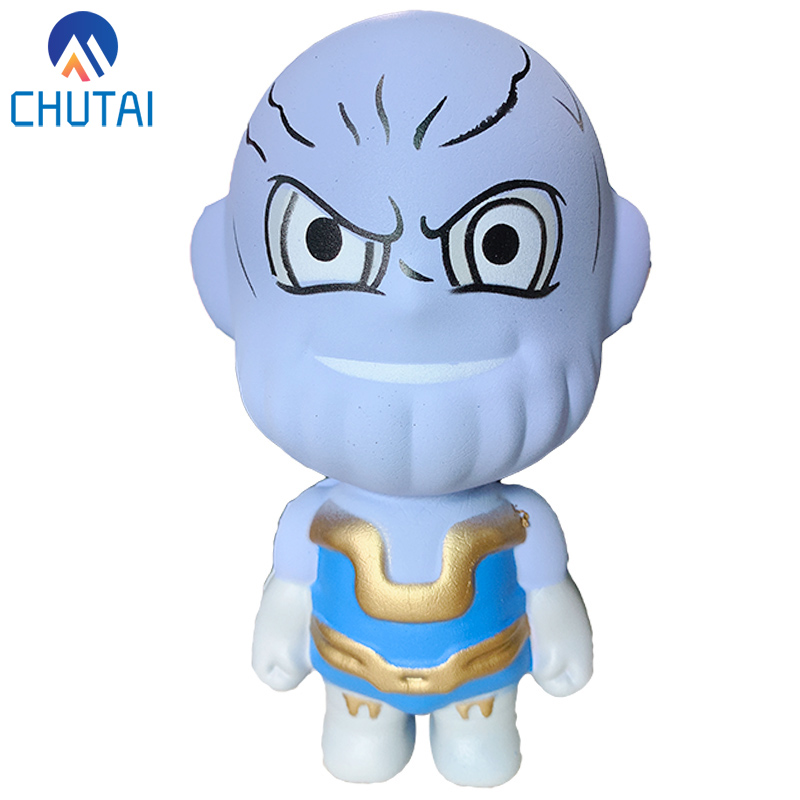 2019 New Avengers Squishy Cartoon Doll Slow Rising Squishes Soft Stress Relief Squeeze Toys For Baby Kid Xmas Gift Toy 14x8 CM