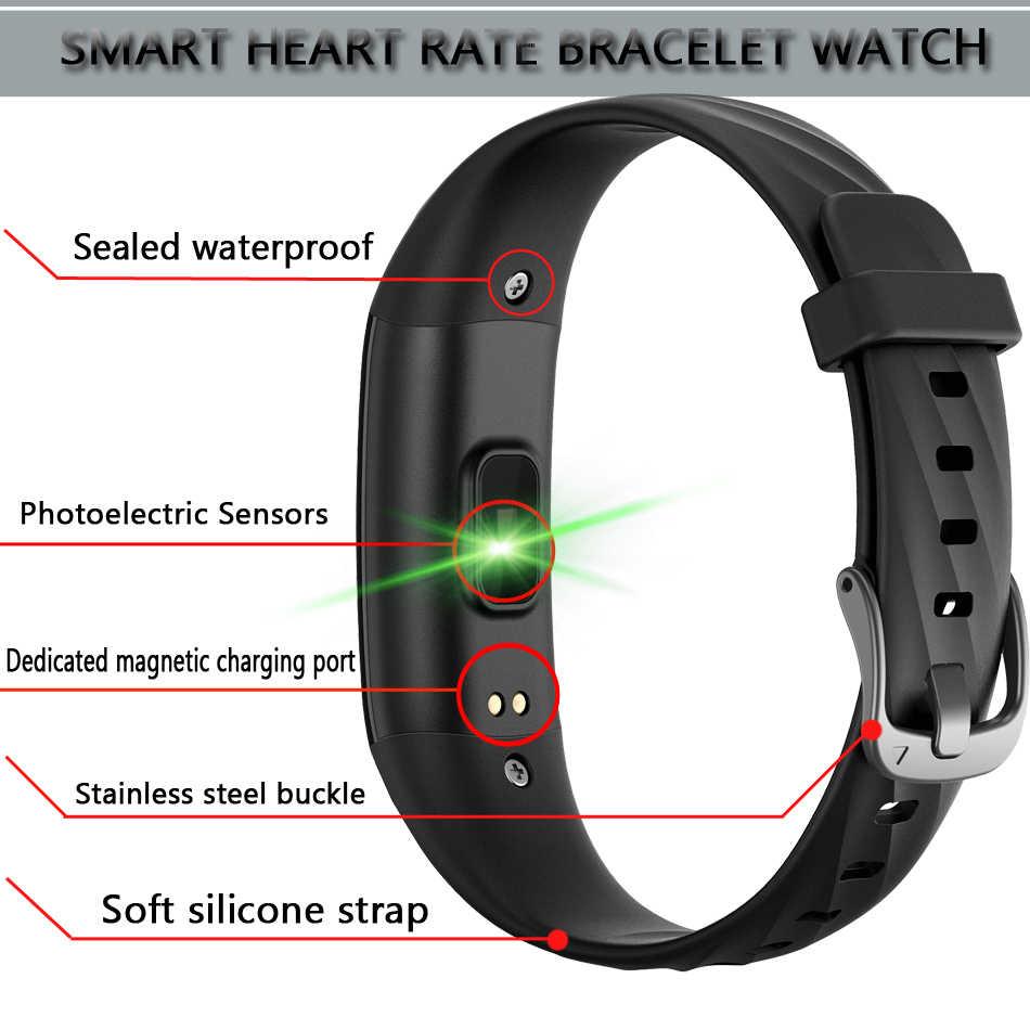 Ini Smart Gelang Pria IP68 Kedalaman Tahan Air Olahraga Watch Smart Pelacak Kebugaran Tekanan Darah Denyut Jantung Pemantauan Pedometer