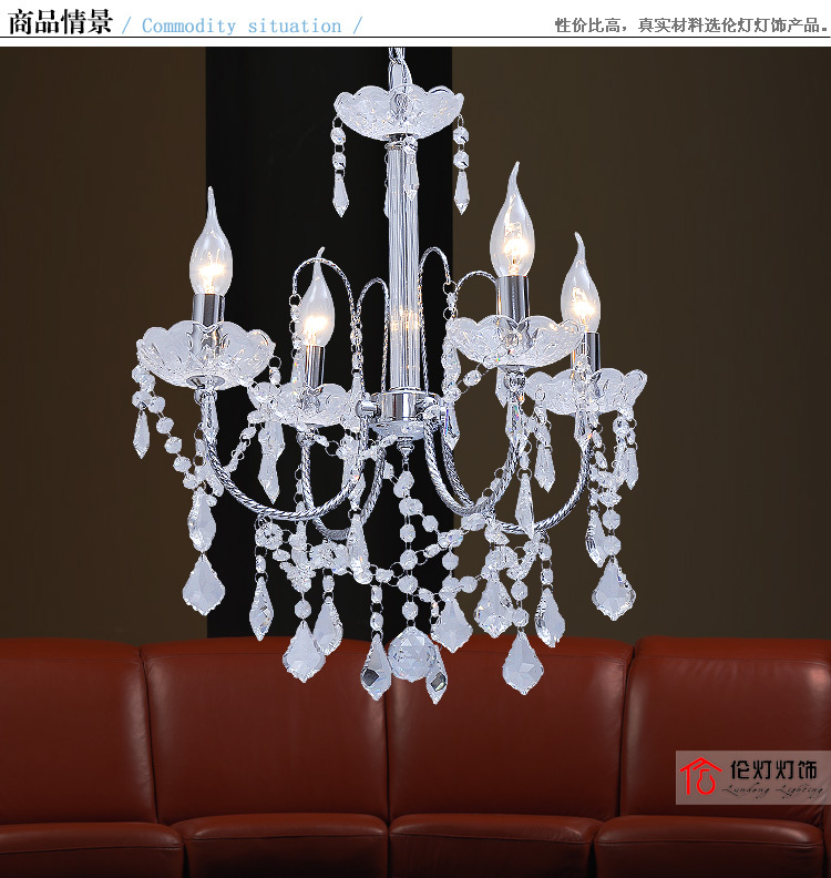 Lamps modern fashion brief crystal pendant light bedroom restaurant lamp