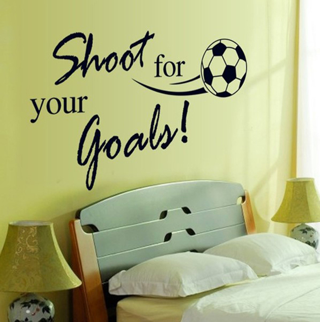 Shoot for your golas football vinyl wall decal home decor mural ...