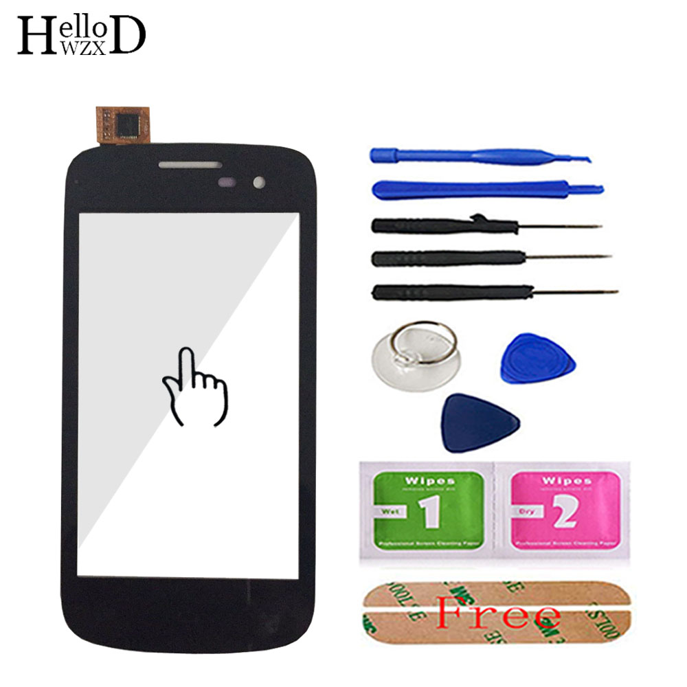 HelloWZXD 4.0'' Touch Glass For Micromax A091 Touch Screen Glass Digitizer Panel Touchscreen Front Glass Lens Sensor + Adhesive