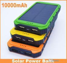 Waterproof 10000mAh Power Bank 8000 mah Solar PowerBanks 2A Output Cell Phone Portable Charger Solar Panel For Sony smartphone