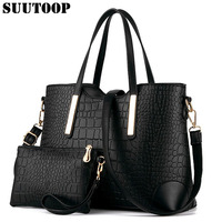 Women Handbags Bolsa Leather Totes Crocodile Crossbody Messenger Clutch Tote Purse 2 Sets Letter Pack Multi