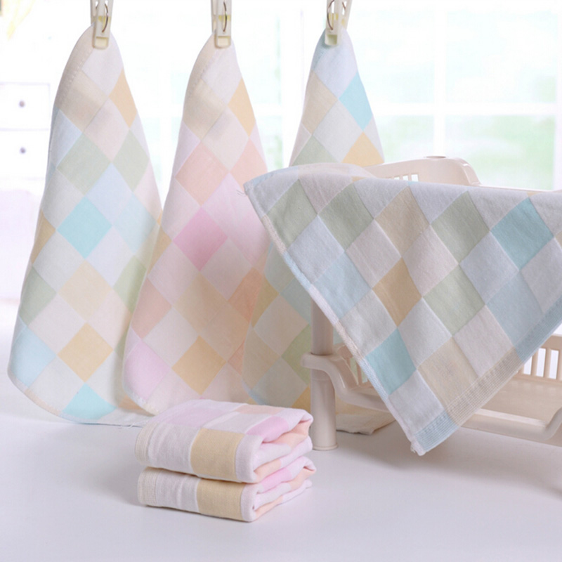 10PCs Square Towel Comfy Baby Towel Cotton Feeding Bath Face Washing Cleaning Handkerchief Kids Soft Hand Towel
