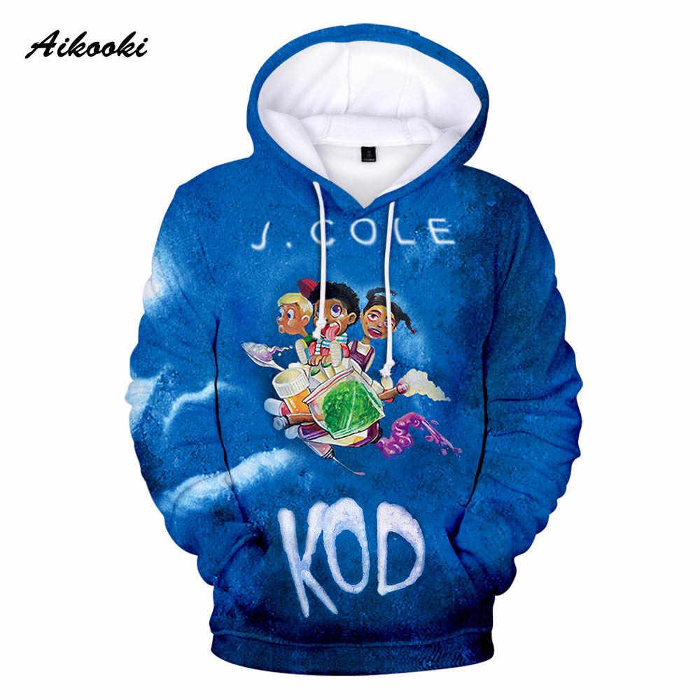 Gran venta 3D Singer J. cloe KOD Hoodies hombres/mujeres Streetwear sudaderas hombres dibujos animados KOD J. sudaderas con capucha Otoño Invierno
