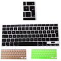 New Turkish Keyboard euro Version Silicone Protector Stickers Skin For Apple Macbook air pro retina 13 15 17 Keyboard Cover