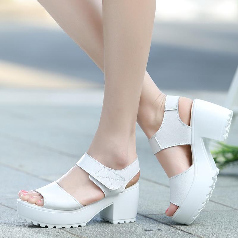 White Thick Heels | Fs Heel