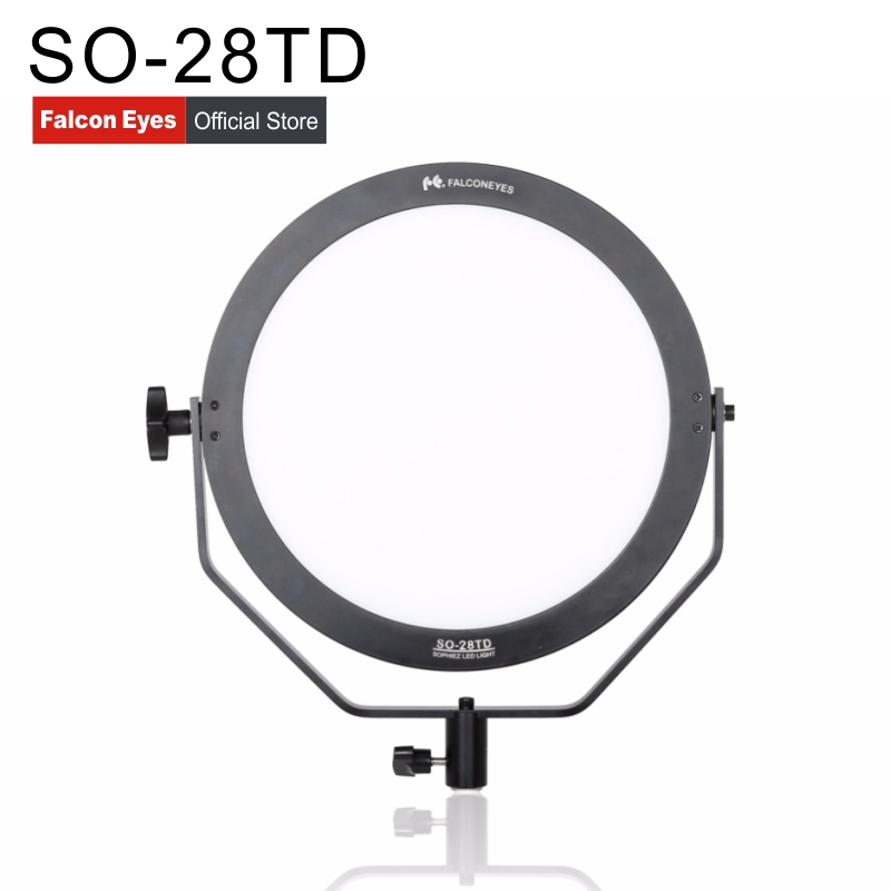 Falcon Eyes SO-28TD video light 28W led panel lamp round soft Photographic lighting Studio Light for film Advertisement shooting