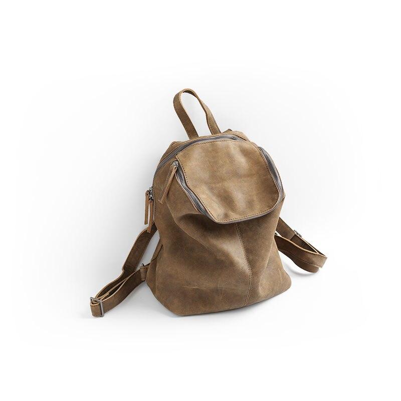 Vendange nouvelle mode femmes école style vintage à la main véritable sac en cuir petit sac à dos 2423