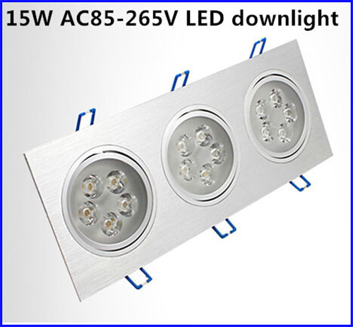 ФОТО 1Pcs15W AC85-265V LED Ceiling Downlight Recessed led Wall lamp Spot light With LED Driver For Home indoor Lighting free shipping
