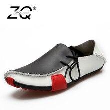 Zoqi модные Мужская обувь Летние слипоны Пояса из натуральной кожи Обувь мужские туфли на плоской подошве Низкие мужские повседневные туфли-оксфорды для мужчин