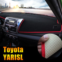 Car Dashboard Avoid Light Pad Instrument Platform Desk Cover Mats Shading Pad Carpets For Toyota YARIS