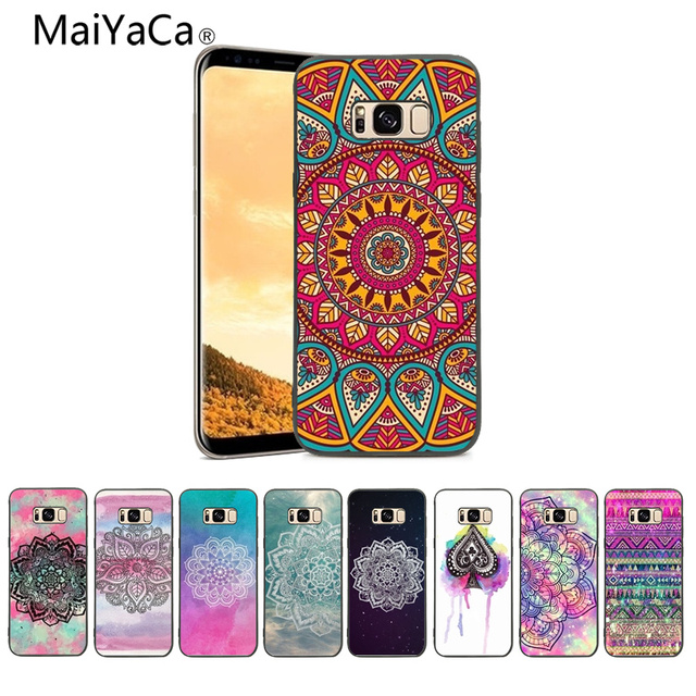 reputable site 5c29a b9e6e US $1.21 39% OFF|MaiYaCa Indian pattern mandala TPU Soft Silicone black  Phone Case Cover For Samsung S8 S9 S9plus And s4 s5 s6 s7 Mobile cover-in  ...