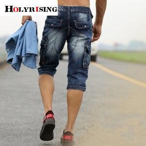 Image 4 - Áo Quần Shorts Bermuda Homme Nam Thời Trang Quần Short Rửa Sạch Denim Quần Short Jeans Nam Homme