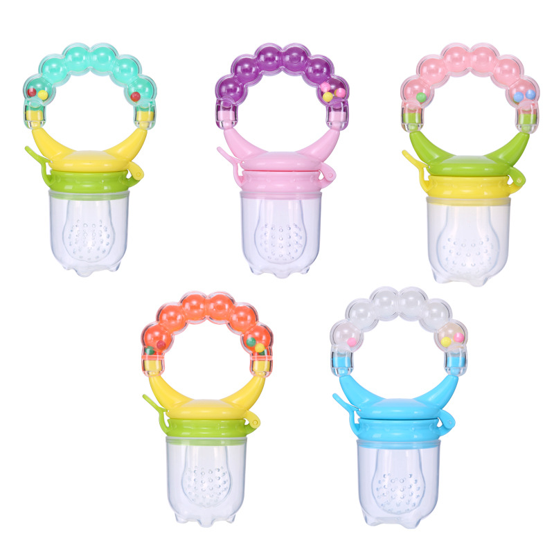 Qshare Baby Nimbler Pacifier Clip Fruit Infant Food Nibbler Holder Nipples Silicone Soother Nipple Feeding Teat Pacifier Bottles