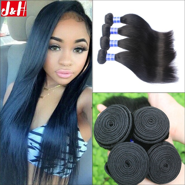 4pcslot Peruvian Straight Virgin Hair Weaves 7a Good Quality