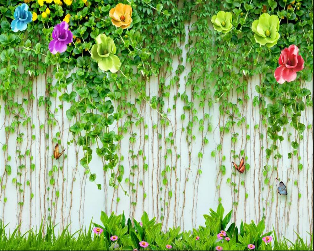 US $8 85 OFF Beibehang Kustom 3D Wallpaper HD Bunga Dinding Pemandangan Seni Mural Hidup Kamar Tidur Koridor Kamar Anak Foto Wallpaper Wallpaper