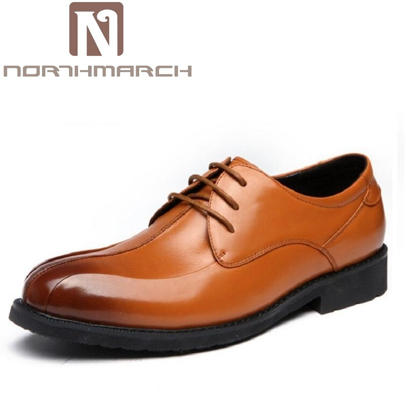 NORTHMARCH Luxury Brand Men Flats High Quality Leather Derby Shoes Mens Lace Up Business Dress Shoes Oxfords For Men sapatos кольцо коюз топаз кольцо т142015009