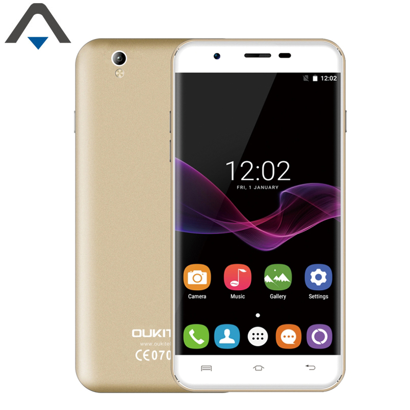Original Oukitel U7 Max Mobile Phone 5.5 inch 1280x720 IPS MTK6580 Quad Core Android 6.0 1GB RAM 8GB ROM 8.0MP 3G Smartphone