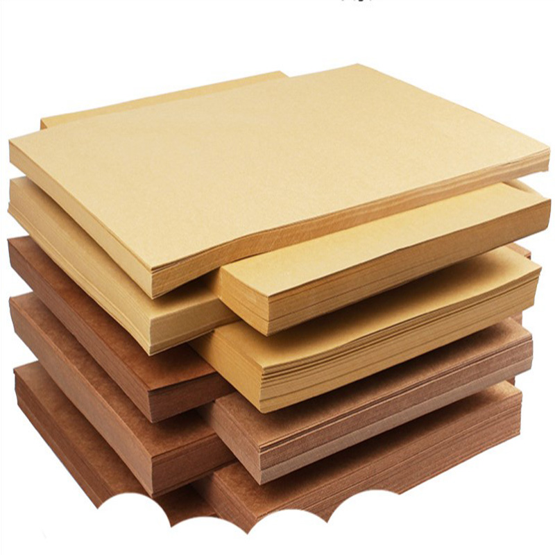 10 Pcs High Quality A4 Brown Raw Wood Pulp Kraft Paper DIY Cover Handmade Origami Cardboard Printing Gifts Packaging Decor Paper