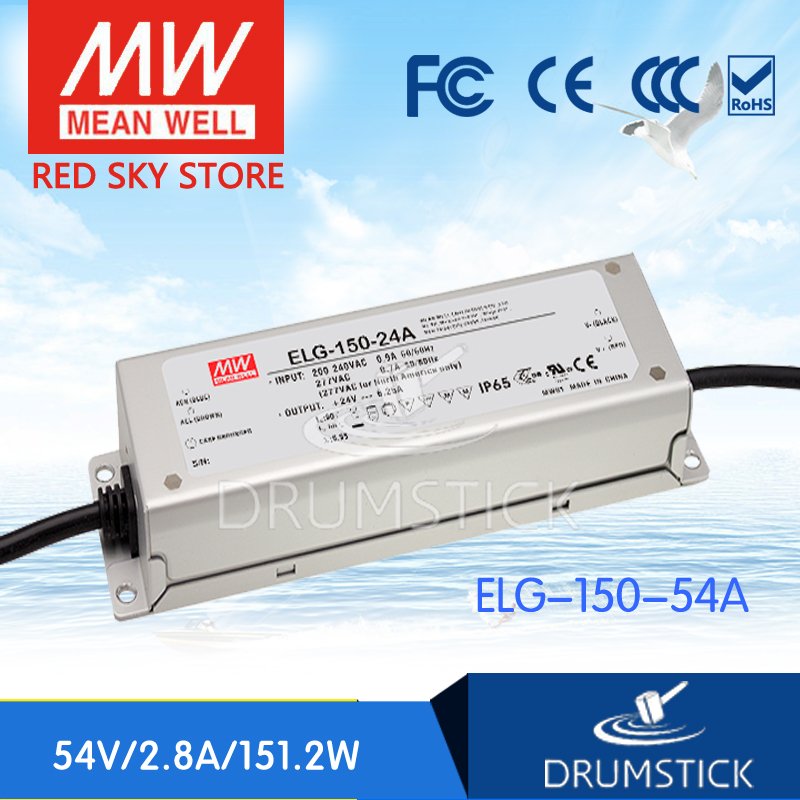 цена на Hot sale MEAN WELL ELG-150-54A-3Y 54V 2.8A meanwell ELG-150 54V 151.2W Single Output LED Driver Power Supply A type