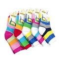 5 pares/lote rainbow Spring & outono algodão de boa qualidade scocks das crianças das meninas do menino do bebê meias crianças meias para meninas 1-12 ano