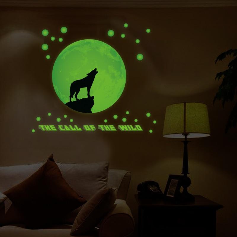 Creative night light wall stickers moonlight wolf called bedroom living  room background decoration luminous stickers. Moonlight Light Bedroom Reviews   Online Shopping Moonlight Light