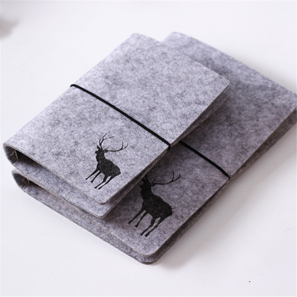 1pc Felt Cover Notebook A5/A6 Loose Leaf Inner Core Planner Schedule Organizer Diary Journal Spiral Notebook Office Supplies1pc Felt Cover Notebook A5/A6 Loose Leaf Inner Core Planner Schedule Organizer Diary Journal Spiral Notebook Office Supplies