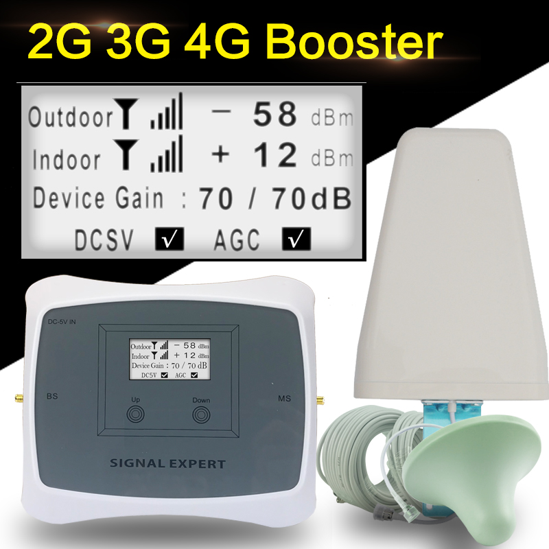 NEW 70dB 2G 3G 4G Cellular Signal Booster GSM 1800 DCS 1800mhz WCDMA 2100mhz Mobile Phone Repeater 4G LTE 1800 Signal Amplifier
