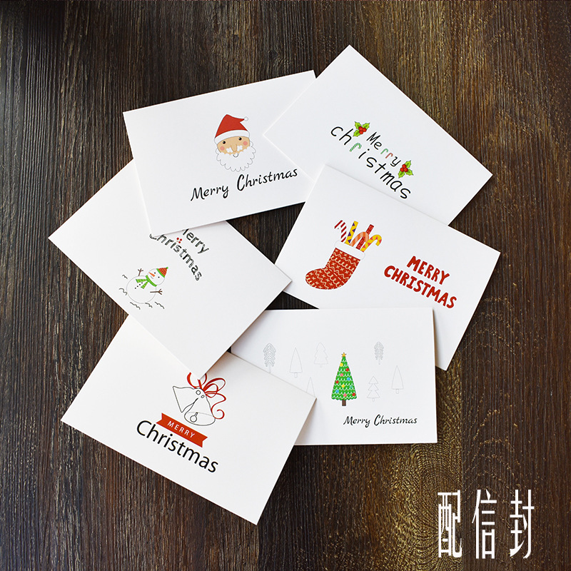 48pcs 10 X15cm New Greeting Cards Post Card for New Year Festival ...