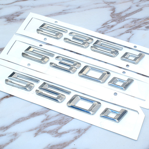 Image 5 - עבור Bmw 5 סדרת E39 E60 E61 F10 F11 חדש 520d 525d 528d 530d 535d 550d אחורי אתחול Trunk מכתבי תג סמל