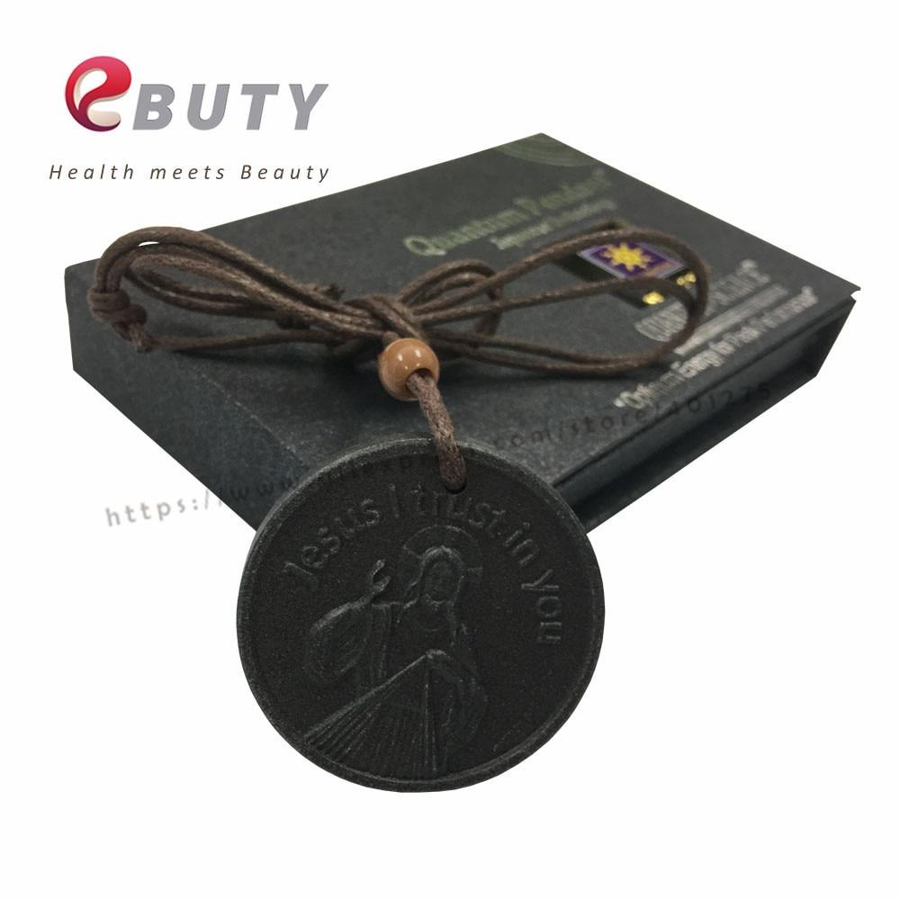 Ebuty Quantum Подвески скалярная энергия кулон Иисус я доверяю в вас Best подарок для друзей здравоохранения 2 шт./лот