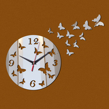 2017 New Sale Wall Acrylic Wall Sticker Stickers Home Decor Europe Large 3d Clock Kitchen Horse