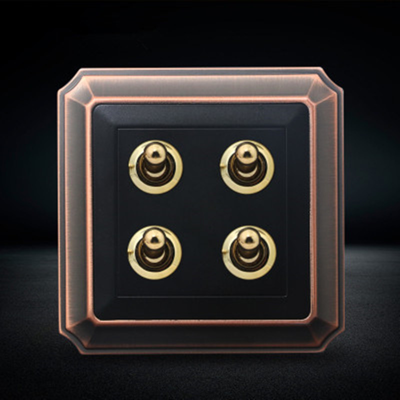 4 Gang 1 Way   2 Way Wall Switch And Bronze Color Toggle