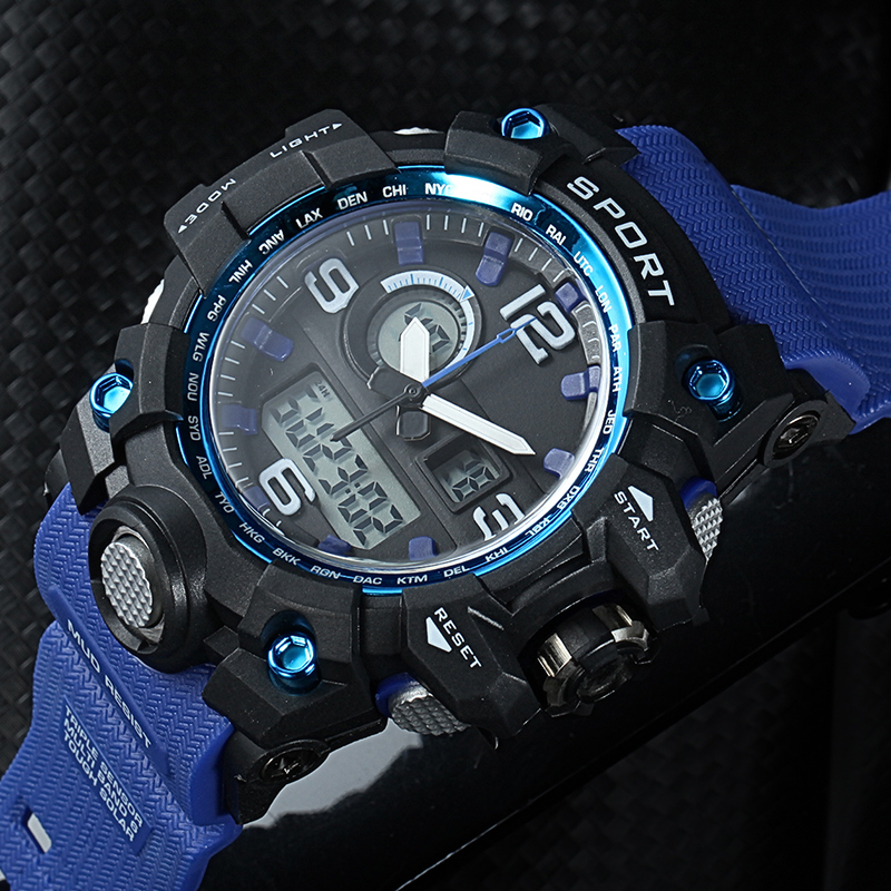 AMUDA Outdoor Big Dial Sport Watches Men Camouflage Style Waterproof LED Digital Quartz Wrist Watch Clock Male Relogio Masculino 2018 amuda gold digital watch relogio masculino waterproof led watches for men chrono full steel sports alarm quartz clock saat